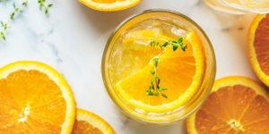 オレンジジュースをください。