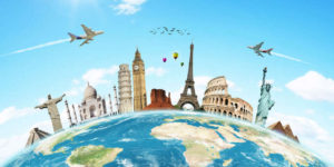 旅行の目的は観光です。